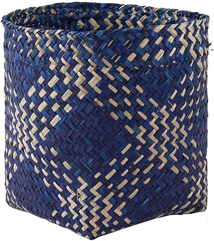 ZHANGQIANG Storage Basket Laundry Basket Single Laundry Bag, Large Foldable Laundry Basket, Collapisable Laundry Hamper, Folding Washing Storage Bin (color   bluee, Size   25  25  25cm)