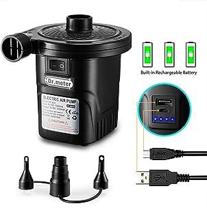 Rechargeable Air Pump, Dr.meter HT-420 Portable Electric Air Pump 4000mAh Quick-Fill Inflator Deflator Air Mattress Pump (Rechargeable Air Pump)