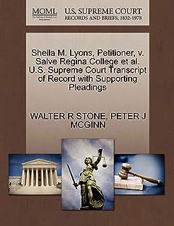 Sheila M. Lyons, Petitioner, V. Salve Regina College Et Al. U.S. Supreme Court Transcript of Record with Supporting Pleadings