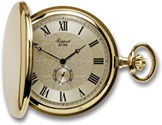 Vintage Pocket Watch with Chain by Rapport - Classic Oxford Hunter Case Pocket Watch with Sub-Seconds