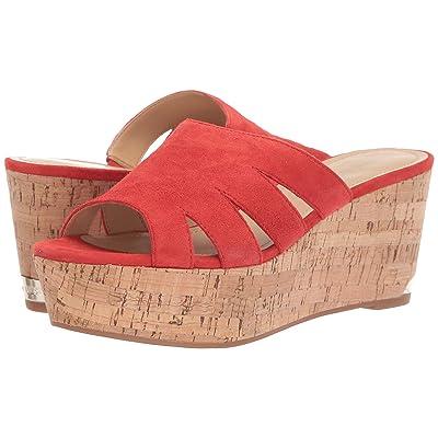 Nine West Victoria Platform Sandal (Red) Women