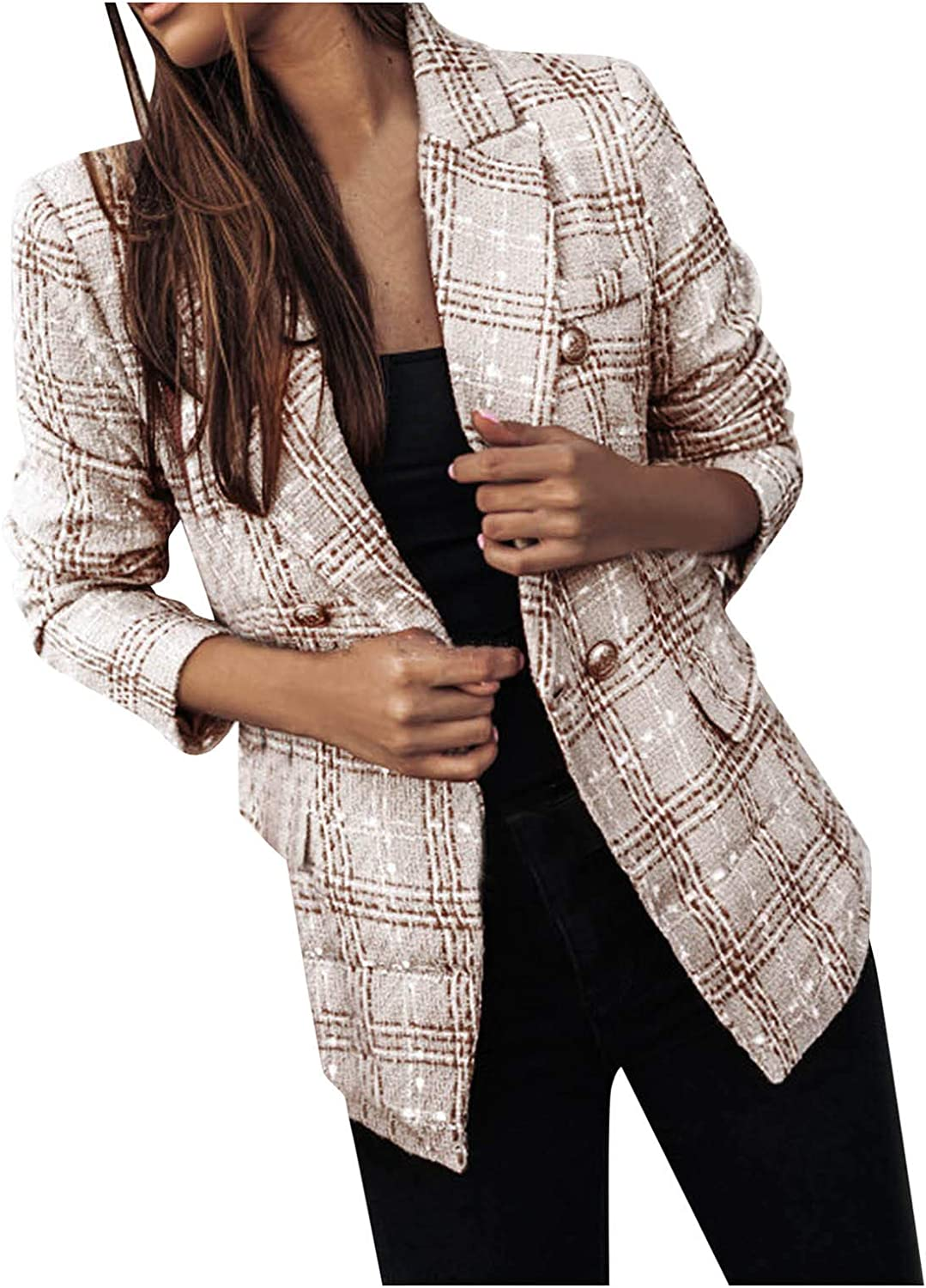 Forwelly Womens New popularity Winter Thicken Lined Lapel Overcoat Trenc Button OFFicial shop