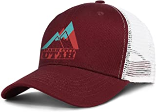 Park City Utah Vintage Travel Mens Adjustable Fits Flat Cap Vintage Unisex Outdoor Snapback Hat