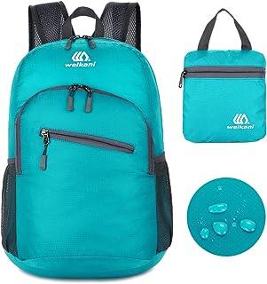 Mochila ligera de embalaje, 18L plegable de Daypack, Ultraligero al aire libre de viajes de camping de ciclismo Backpack perfecto para hombres y mujeres, de peso ligero plegable Travel Backpack