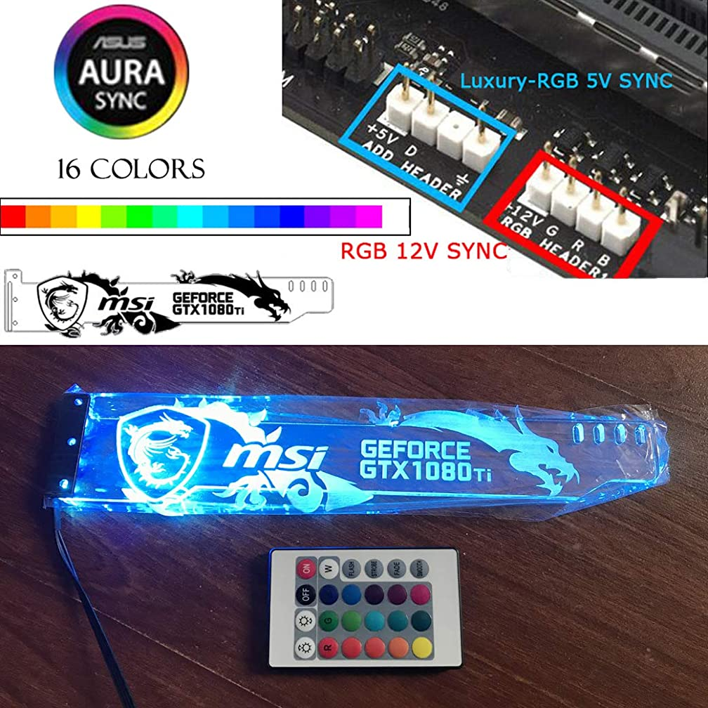 Emperor's Magic Yosy Perxonalized RGB GPU Brace Support Universal Graphics Card Bracket with 16 Colors RGB LED Lights & Remote Control,Support ASUS 12V SYNC