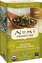 Numi Organic Tea Matcha Toasted Rice, 18 Count Box of Tea Bags, Green Tea (Packaging May Vary)