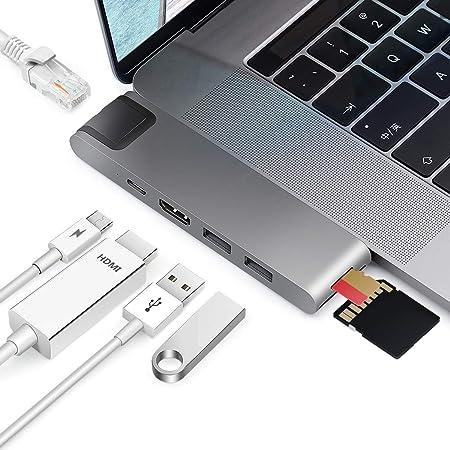 Sicotool Compatible With Macbook Pro Adapter Usb C Hub Computer Zubehör