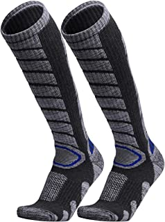 Ski Socks ? WEIERYA Mens 2 Pack Performance Skiing Socks Snowboard Socks Dark grey
