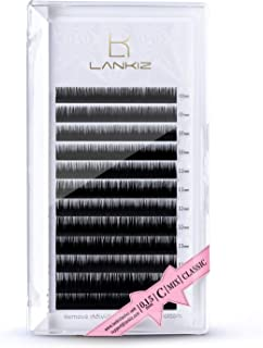 LANKIZ Eyelash Extensions Individual Lashes 0.15mm C Curl 8-15mm Mink Eyelash Extension..
