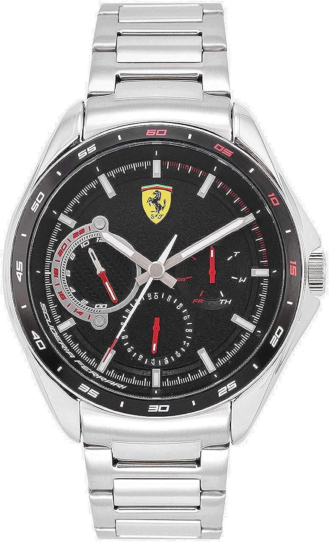 Scuderia Ferrari Reloj Analógico para Hombre de Cuarzo con Correa en Acero Inoxidable 0870037