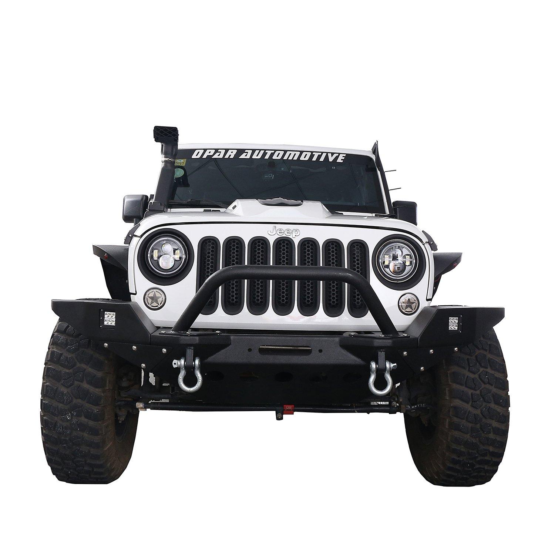 Opar Noir mat Fa/çade Phare Phare Coque Trim pour 2007 2017/Jeep Wrangler JK /& Wrangler Unlimited