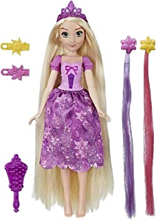 Disney Princess Hair Style Creations Rapunzel Fashion Doll, Hair Styling Toy with Brush, Hair Clips, Hair Extensions and R...