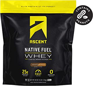 Sponsored Ad - Ascent Native Fuel Whey Protein Powder - Chocolate Peanut Butter - 4 lbs