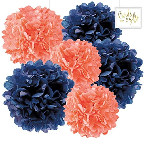 Navy Blue And Coral Wedding Decorations Amazon Com