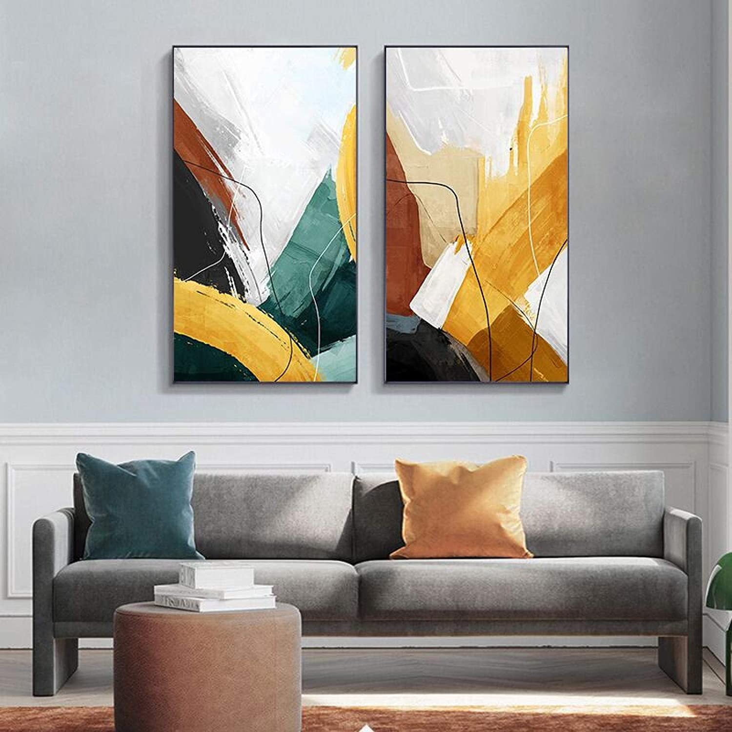 Colorful Abstract Art Wall Price reduction Painting Unique Challenge the lowest price of Japan Modern Home Decoratio