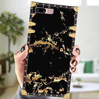 Square Case Compatible iPhone 7 Plus iPhone 8 Plus Case Black Marble Luxury Elegant Soft Shock Protection Case Cover Compatible iPhone 7 Plus/8 Plus 5.5 Inch