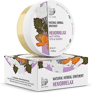 BenePura Hemorrelax 100% Naturlig Växtbaserad Salva 1,35 fl. Oz 40 ml - Vit Rölleka, Tetra & Gurkmeja - En Naturlig Anal B...