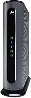 Motorola 24x8 Cable Modem, Model MB7621, DOCSIS 3.0. Approved by Comcast Xfinity, Cox, Charter Spectrum, Time Warner Cable...
