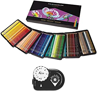 Prismacolor Colored Pencils Art Kit – Artist Premier Wooden Soft Core Pencils 150 ct. With Acurit Dial-a-Point Pencil Sharpener [151 pc. Set]