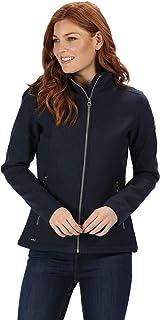 Regatta Women's Charley Water Repellent Wind Resistant Equestrian Friendly Softshell Jacket Soft Shell, Navy, 18