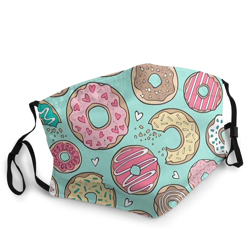 CURANI Donuts Cheap mail order shopping with Hearts Yellow Ranking TOP10 Green Chocolat and Reusabl Pink