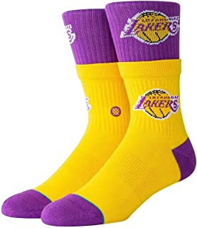 Stance Lakers Double Double Socks - Yellow