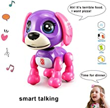 amdohai Interactive Puppy - Electronic Pet Toy, Smart Robot Dog for Age 3 4 5 6 7 8 Year-Old Children, Gifts Idea for Kids ● Voice Control&Intelligent Talking (Dark Purple)