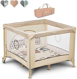 Lionelo Sofie - Parque infantil para bebé (desde el nacimiento hasta 15 kg, con bolsa de transporte), color beige