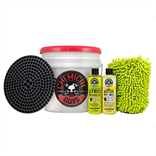 Chemical Guys HOL127 Wash and Wax Detailing Bucket Kit, 16 fl. oz., 6 Items