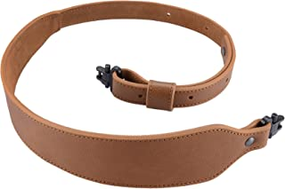 Raiseek Rifle Sling Buffalo Hide Leather Sling with Swivels, Durable Gun Strap, Metal Hardware 1