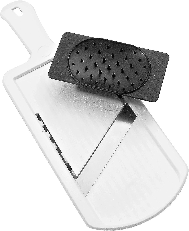 La mejor mandolina: Fackelmann Mandolina Ajustable con Protector de dedos en polímero y acero inox