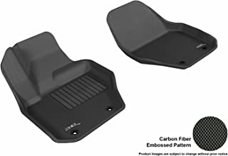 3D MAXpider Front Row Custom Fit All-Weather Floor Mat for Select Volvo XC60/S60 Models - Kagu Rubber (Black)