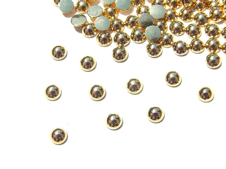 不名誉な環境混乱させる【jewel】ゴールド メタルパーツ ラウンド (丸) Lサイズ10個入り 3mm 手芸 材料 レジン ネイルアート パーツ 素材
