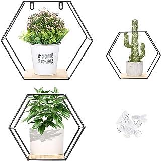 Juego de 3 estanterias Liesun baldas Pared hexagonales estanteria Pared estantes de Pared estanteria baño Pared estan...