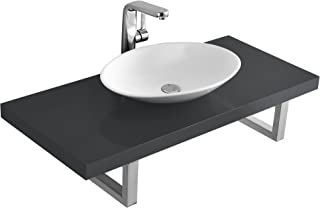 Neu.Haus Encimera de baño con Lavabo Gris Brillo Intenso (