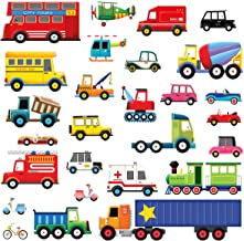 DECOWALL DW-1605 27 Transports Kids Wall Stickers Wall Decals Peel and Stick Removable Wall Stickers for Kids Nursery Bedr...
