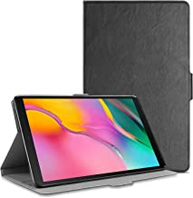 Polaland Galaxy Tab A 10.1 (2019) Case, Premium Leather Folding Multi-viewing Angle Stand Folio Cover with Soft TPU Slim Interior Shell for Galaxy Tab A 10.1 Inch Model SM-T510/T515 Tablet - (Black)