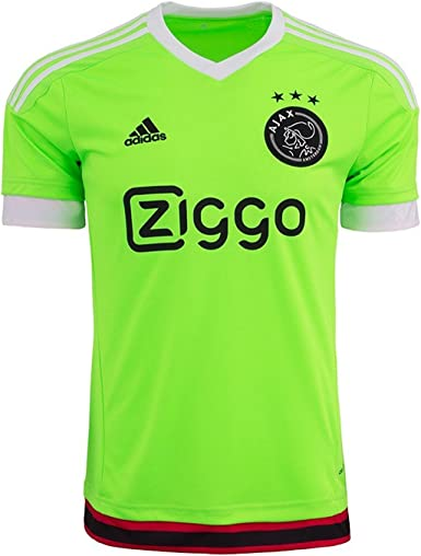 Amazon.com: adidas Men's Soccer Ajax Away Jersey (Medium) Green ...