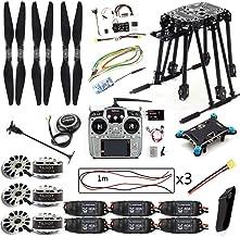 QWinOut DIY Set PIX4 Flight Control ZD850 Frame Kit M8N GPS Remote Control Radio Telemetry ESC Motor Props for RC 6-Axle Drone