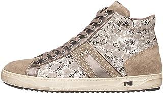 Nero Giardini A806453D - Zapatillas altas para mujer de piel, ante y tela