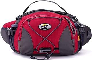 Outdoor Travel Funny Packs For Men Women Running Belt Sport Pouch Waist Bag Waterproof Waist Pack , Red