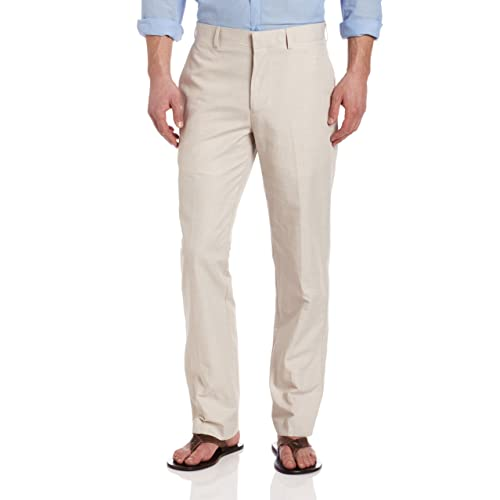 2eee641052 Cubavera Men s Linen-Cotton Herringbone-Textured Pant