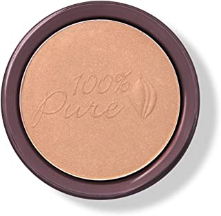 100% PURE Cocoa Pigmented Bronzer, Cocoa Gem, Bronzer Powder for Face, Contour Makeup, Soft Shimmer, Sun Kissed Glow (Light Peachy Brown w/Golden Undertones) - 0.32 Oz
