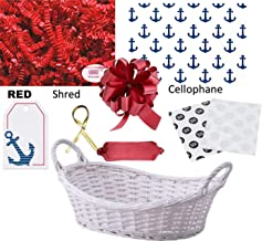 Build a Gift Basket Making Supply Kit for Do it Yourself DIY Wrapping Theme (Nautical)