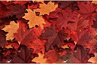 Biowow 120pcs Artificial Maple Leaves Fall Leaf Event Decoration Wedding Flowers Party Favor Random Color
