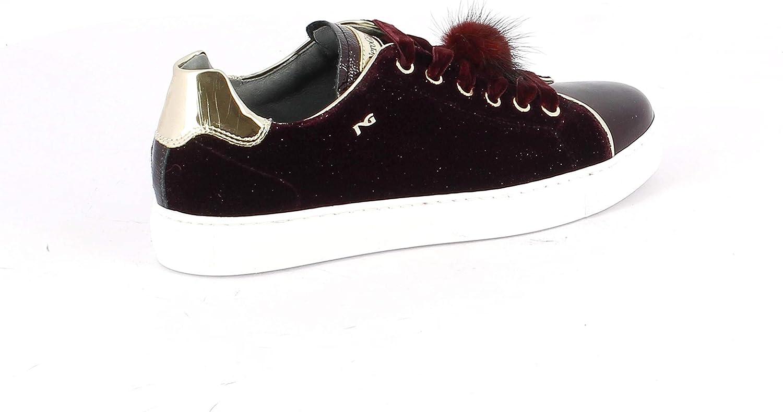black Giardini Women's A806642D613 Brown Fabric Sneakers