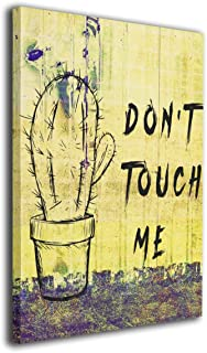 Hobson Reginald Canvas Wall Art Prints Cactus Don't Touch Me Plant -Photo Paintings Contemporary Home Decoration Giclee Artwork-Wood Frame Gallery Wrapped 16