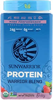 Sunwarrior Organic Vegan Protein Powder with BCAAs and Pea Protein (Warrior Blend - Berry, 30 Servings)