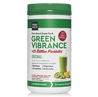 Vibrant Health, Green Vibrance, Plant-Based Superfood Powder, Vegan Friendly, 30 Servings