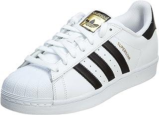 mens Super Star Sneaker, White/Black/White, 9.5 US